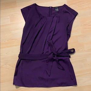 Ann Taylor silky purple top